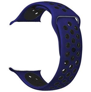 4wrist Silikonový řemínek pro Apple Watch - Modrá/Černá 38/40 mm