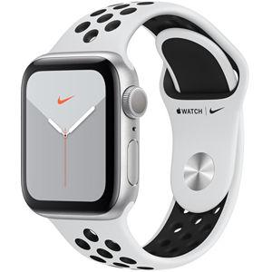Apple Watch Series 5 Nike 40mm stříbrný hliník s bílým Nike řemínkem
