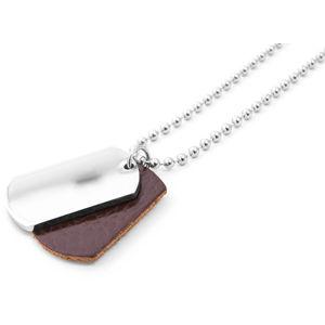 Beneto Moderní pánský ocelový náhrdelník SR623