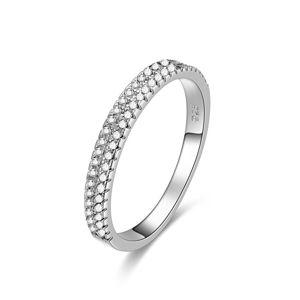 Beneto Stříbrný prsten se zirkony AGG337 52 mm