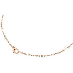 Boccia Titanium Růžově pozlacený titanový řetízek 08024-0345
