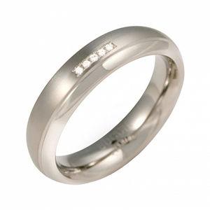 Boccia Titanium Titanový snubní prsten s diamanty 0130-09 51 mm