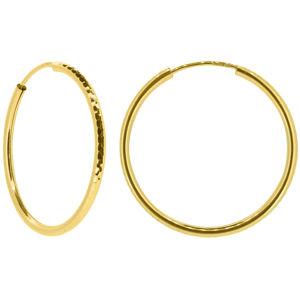 Brilio Dámské náušnice kruhy ze žlutého zlata P005.750132010.75 3 cm