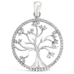 Brilio Silver Třpytivý stříbrný přívěsek Strom života PENT014