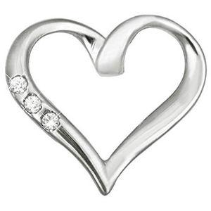 Brilio Zlatý přívěsek srdce s krystaly 249 001 00354 07