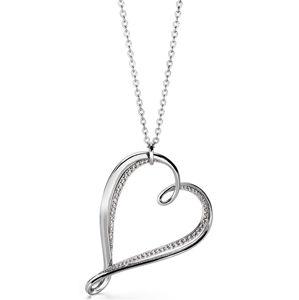 Brosway Náhrdelník se srdcem Ribbon BBN03 (řetízek, přívěsek)