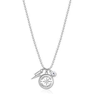Brosway Ocelový náhrdelník s přívěsky Chakra BHKL05EN (řetízek, přívěsky)