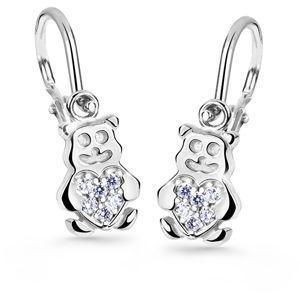 Cutie Jewellery Dětské náušnice medvídci C2751-10-X-2 bílá