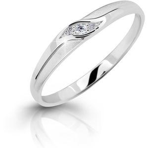 Cutie Jewellery Něžný zásnubní prsten z bílého zlata Z6815–2844-10-X-2 52 mm