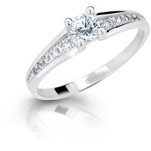 Cutie Jewellery Něžný třpytivý prsten se zirkony Z6822-2956-10-X-2 53 mm