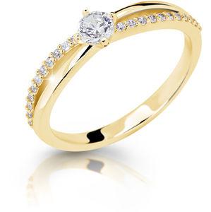 Cutie Jewellery Něžný třpytivý prsten ze žlutého zlata Z6728–2837-10-X-1 57 mm
