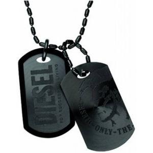 Diesel Černý pánský náhrdelník DX0014040