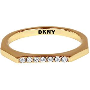 DKNY Stylový oktagonový prsten 5548758 52 mm