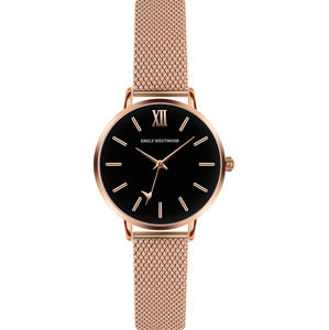 Emily Westwood Callum Brae Rose Gold Mesh Watch ECG-3214