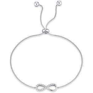 Engelsrufer Stříbrný náramek Infinity se zirkony ERB-LILINFINI-Z