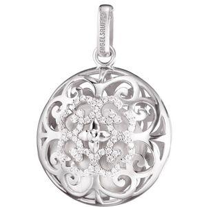Engelsrufer Stříbrný přívěsek Andělský zvonek Luna s perleťovou rolničkou a zirkony ERP-20-LUNA-ZI
