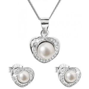 Evolution Group Luxusní stříbrná souprava s pravými perlami Pavona 29025.1 (náušnice, řetízek, přívěsek)