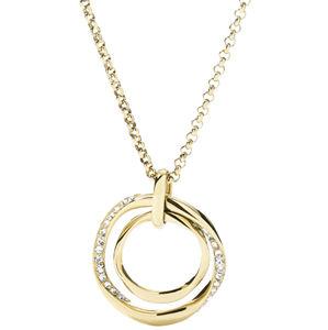 Fossil Pozlacený náhrdelník s elegantním přívěskem JF01613710