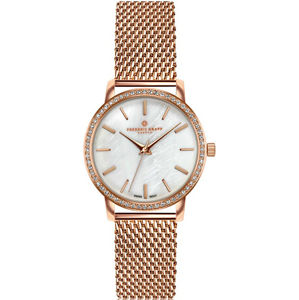 Frederic Graff Kamet Rose Gold Mesh Watch FCD-3918
