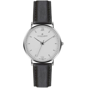 Frederic Graff Silver Dent Blanche Black Leather FAH-B007S