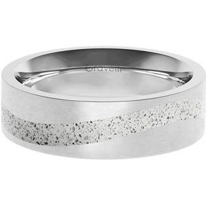 Gravelli Betonový prsten Curve ocelová/šedá GJRWSSG113 53 mm