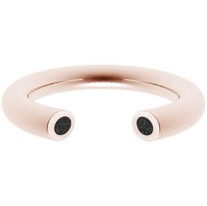 Gravelli Otevřený prsten s betonem Open bronzová/antracitová GJRWRGA107 50 mm