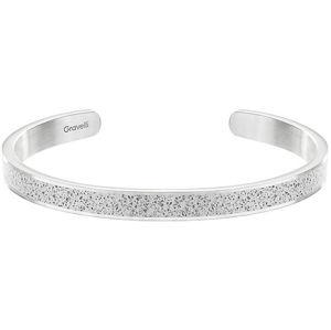 Gravelli Pevný ocelový náramek s betonem Fusion Thin ocelová/šedá GJBWSSG101UN