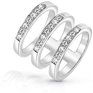 Guess Luxusní trojitý prsten UBR84036 52 mm