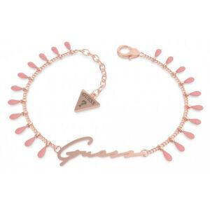 Guess Okouzlující růžově zlacený náramek Beach party UBB70124 18 cm