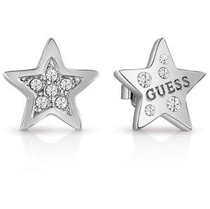 Guess Třpytivé náušnice hvězdičky UBE83081