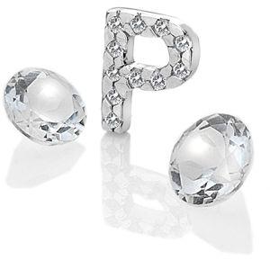 """Hot Diamonds Element písmeno """"P"""" s topazy Anais EX235"""