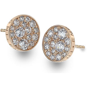 Hot Diamonds Stříbrné náušnice Hot Diamonds Emozioni Scintilla Rose Gold DE457