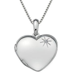 Hot Diamonds Stříbrný náhrdelník Hot Diamonds Memoirs Heart Locket DP495 (řetízek, přívěsek)