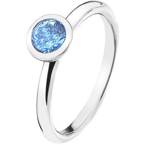 Hot Diamonds Stříbrný prsten Emozioni Scintilla Blue Peace ER022 51 mm