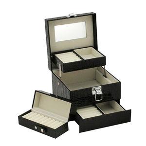 JK Box Černá šperkovnice SP-252/A25/N