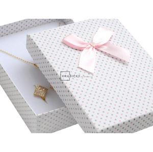 JK Box Puntíkatá krabička na soupravu šperků KK-8/A1/A6