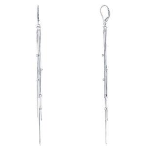JVD Dlouhé stříbrné náušnice se zirkony SVLE0803XE90000