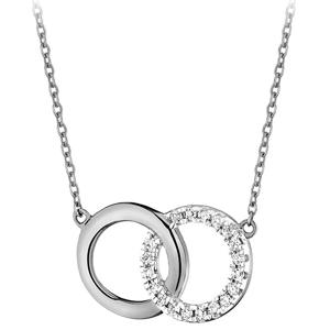 JVD Módní stříbrný náhrdelník SVLN0380SH2BI45