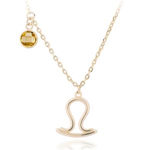 JVD Pozlacený náhrdelník s přívěskem Váhy SVLN0135X61GOVA