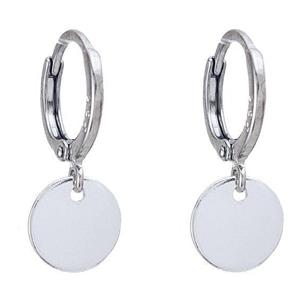 JVD Stříbrné kruhové náušnice s penízky SVLE0601XH20000