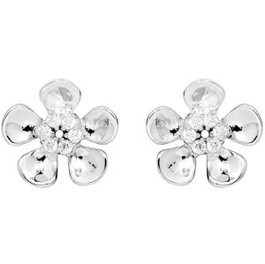 JVD Stříbrné náušnice Květiny se zirkony SVLE0115SH8BI00