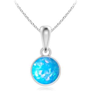 JVD Stříbrný přívěsek s modrým syntetickým opálem SVLP0384SH2O500
