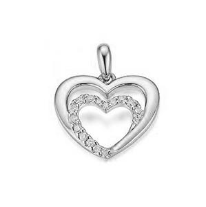 JVD Zamilovaný stříbrný přívěsek Srdce se zirkony SVLP0688XH2BI00
