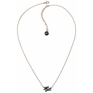 Karl Lagerfeld Pozlacený náhrdelník s třpytivými krystaly KL Script Logo 5512229
