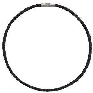 Boccia Titanium Kožený propletený náhrdelník 0858-01 42 cm