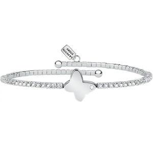 La Petite Story Stříbrný náramek s krystaly a motýlkem LPS05ASE05