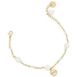 Liu.Jo Pozlacený ocelový náramek s perličkami LJ1504