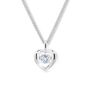 Modesi Romantický náhrdelník s krystalem M43065 (řetízek, přívěsek)
