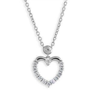 Modesi Srdíčkový náhrdelník se zirkony M41054