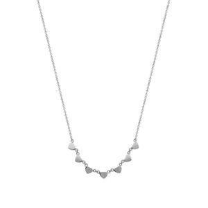 Morellato Ocelový náhrdelník se srdíčky Insieme SAHM03